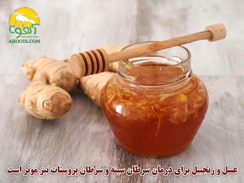 درمان بیماری ها با زنجبیل و عسل