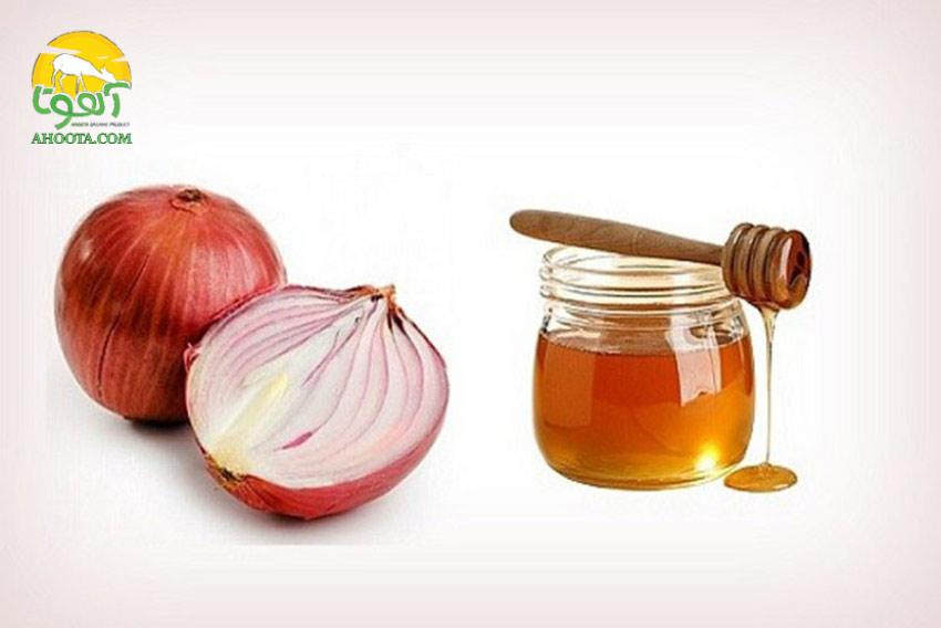 عسل و آب پیاز برای ریزش مو