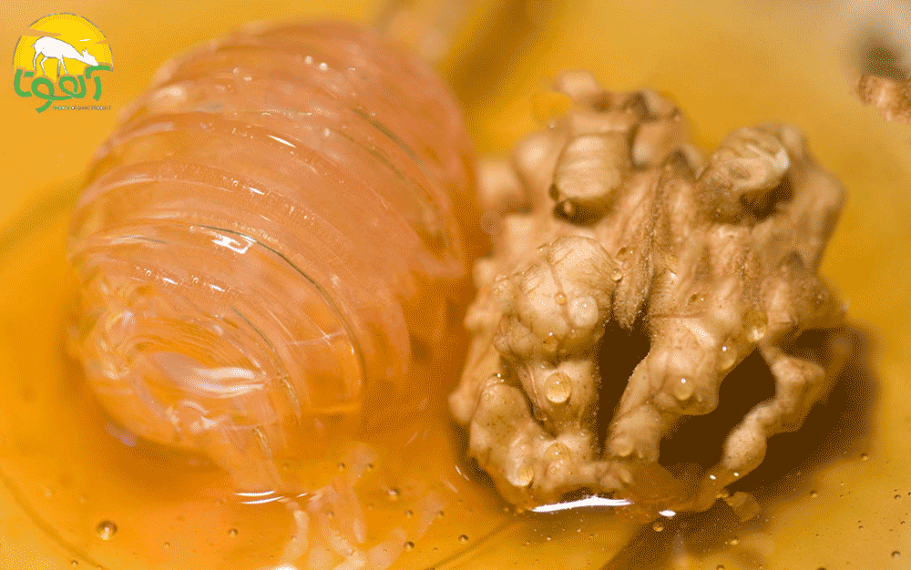 خواص عسل و گردو